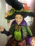 Pumpkin Patch Life Sized Witch Doll - Katherine's Collection