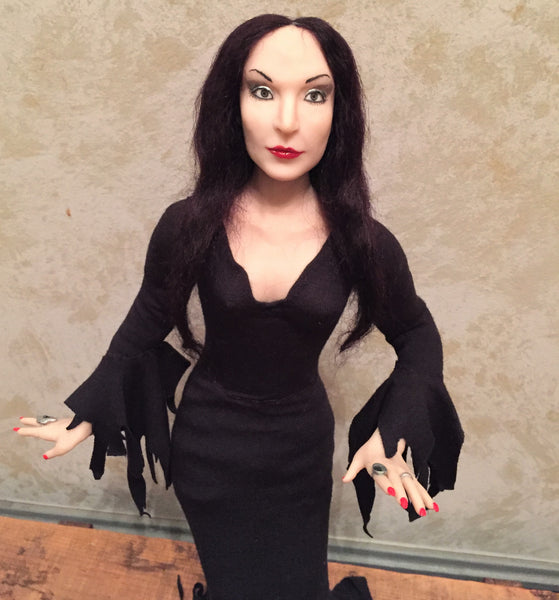 Anjelica Huston as Morticia Addams 1/4 Doll