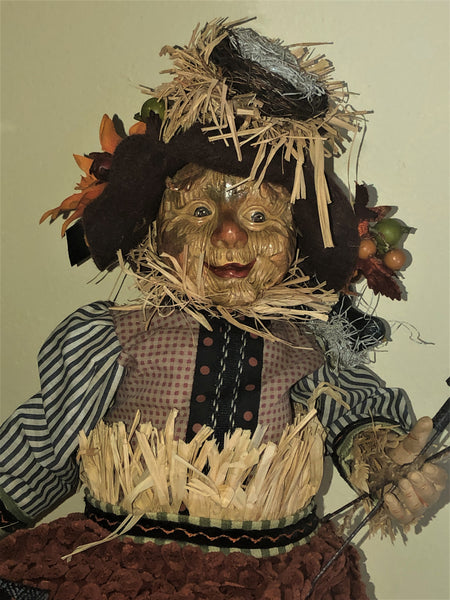 Cheeky Harvest Scarecrow Doll - Whimsical Halloween