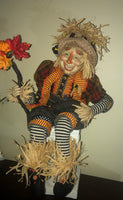 Large Harvest Scarecrow Doll - Whimsical Halloween