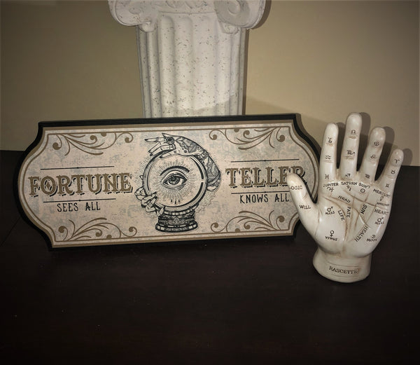 Fortune Teller Display Sign and Hand