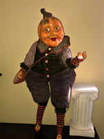 "Large 30"" Candy Corn Harvest Pumpkinhead Doll - Whimsical Halloween"