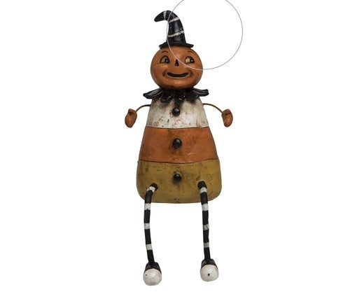 Candy Corn Pumpkin Figure