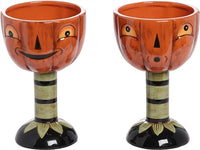 Pumpkin Goblets Set of  2