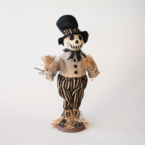 Eerie Scarecrow Doll - Halloween Skeleton