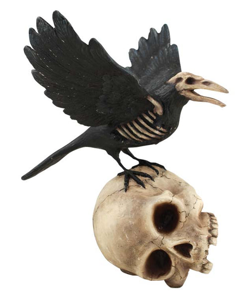 Haunted Raven on Skull - Bethany Lowe