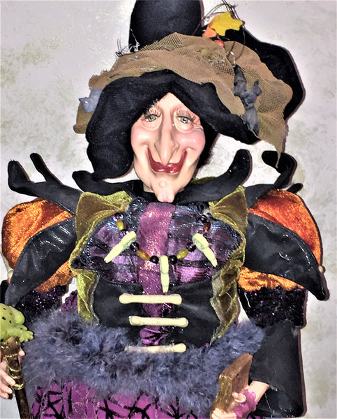 Toadalinda Whimsical Witch Doll