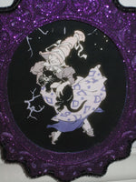 "Storybook Witch on glitter frame 25"" - Halloween"