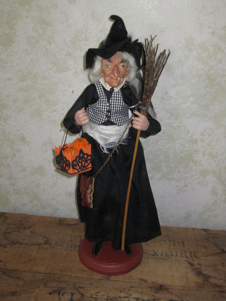 Alfreda Fullmoon Whimsical Witch Doll
