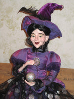 Amethyst Glamour Whimsical Witch Doll
