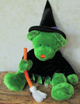 Giant Green Witch Teddy Bear  - Plush Toy