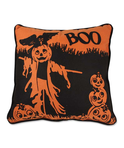 BOO Scarecrow Pillow - Bethany Lowe