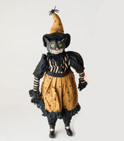 Vintage Halloween Cat Clown Doll (female)