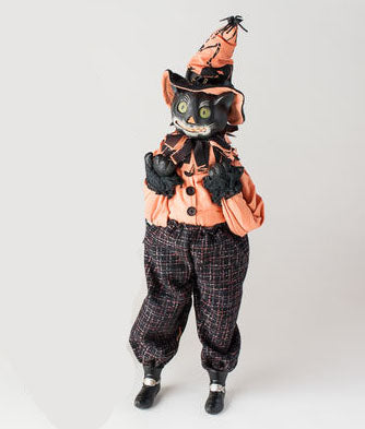 Vintage Halloween Cat Clown Doll (male)