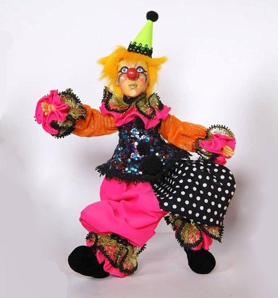 Yellow Haired Clown Doll - Katherine's Collection