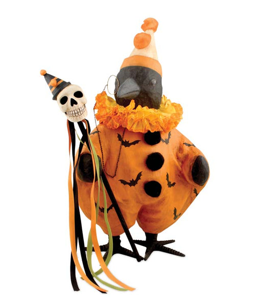 Large Fancy Halloween Crow Figure - Bethany Lowe