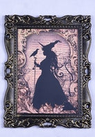 Witch Silhouette Framed Art