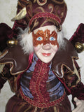Red Harvest Masquerade Elf Jester Doll