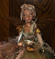 Katherine's Collection - Sitting Autumn Fairy Doll