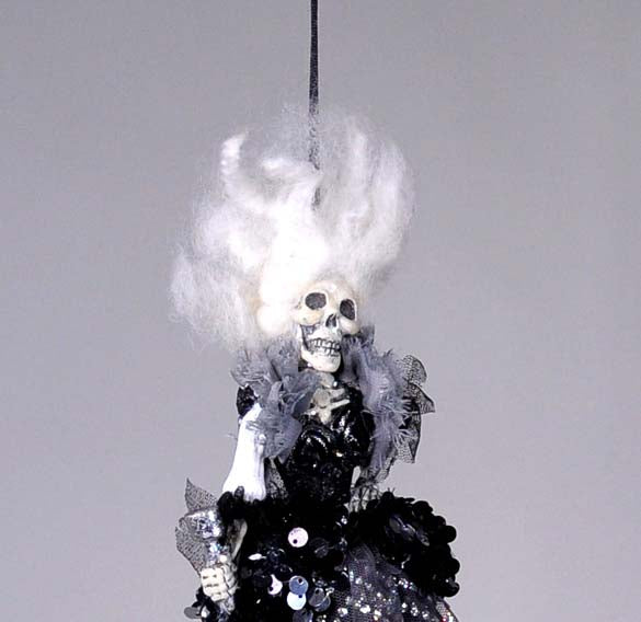 Skeleton Ghoul Female Ornament - Katherine's Collection