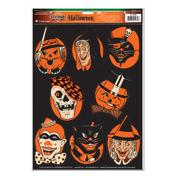 Halloween Characters Window Decals