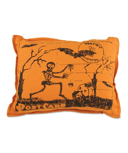 Skeleton Postcard Pillow - Bethany Lowe