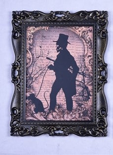 Skeleton Silhouette Framed Art