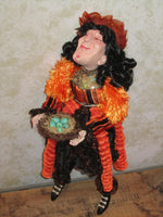 Offering Witch Whimsical Doll - Halloween