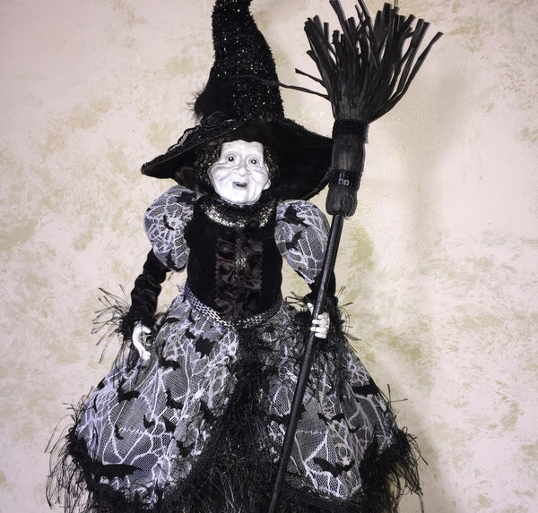 Ghostly Ghoulina Whimsical Witch Doll