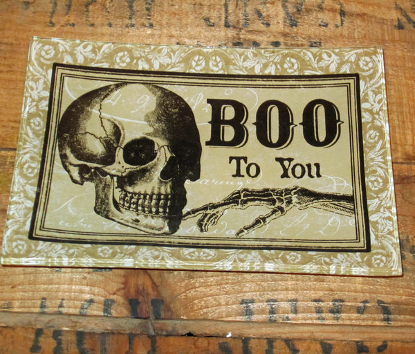 Skeleton BOO Soap Dish