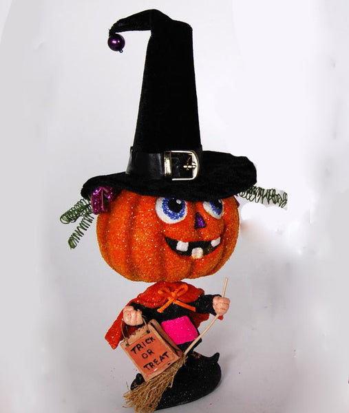 Trick or Treat Pumpkin Figure - Witch - Halloween - Katherine's Collection