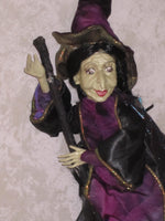 Flying Elphaba Whimsical Witch Doll
