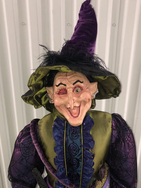 "XL 45"" Grizelda Cackle - Whimsical Witch Doll"