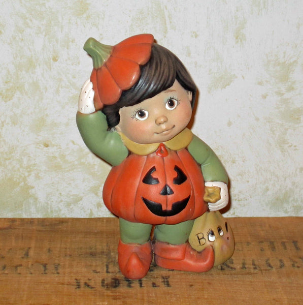 Little Pumpkin Boy Figurine