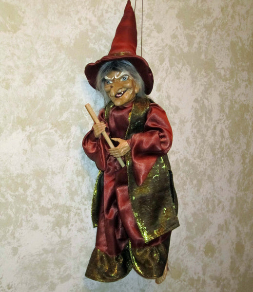 Flying Crone Witch Doll
