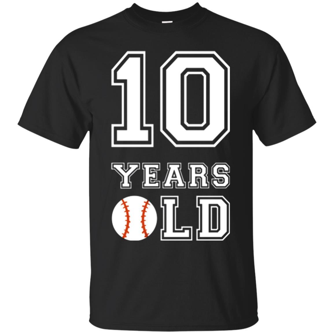 10 Years Old Baseball Birthday Shirt Boy 10th Tee ZGalaxy Fashion T