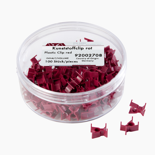 92002708 - Plastic Clip red, 100/pack