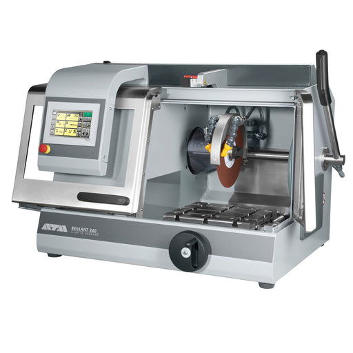 Brillant 240 Semi-Automatic Cut Off Saw - cutting chamber open