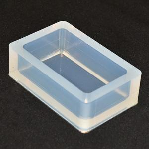 MS-2510 - 70x40mm (2.75x1.5) Rectangular Silicone Mold Cup