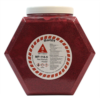 MP-118-5 Phenolic Hot Mounting Powder Red 5 pounds