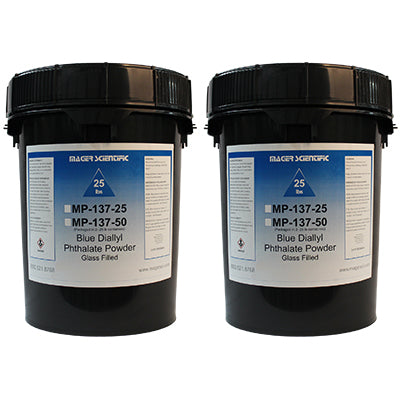 MP-137-50 - Blue Diallyl Phthalate Hot Mounting Powder, Glass Filled