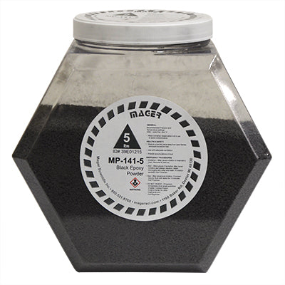 MP-141-5 - Black Epoxy Hot Mounting Powder, Glass Filled