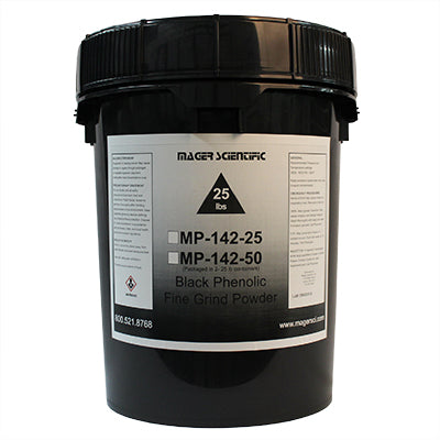 MP-142-25 - Black Phenolic Fine Grind Hot Mounting Powder