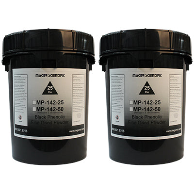 MP-142-50 - Black Phenolic Fine Grind Hot Mounting Powder