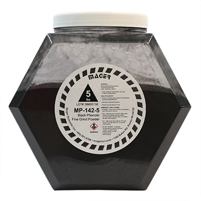 MP-142-5 - Black Phenolic Fine Grind Hot Mounting Powder
