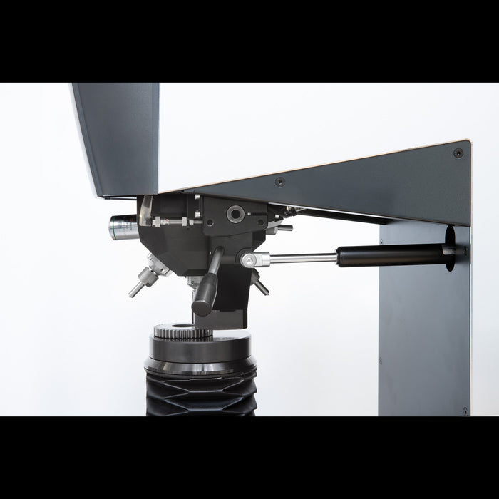 Swiveling downholder on Qness EVO Macro Hardness Tester