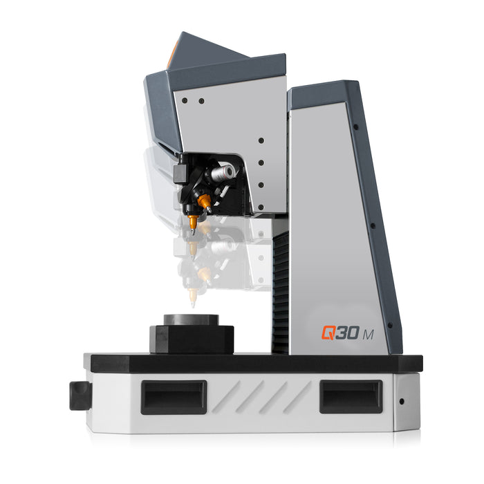 Q30 M Manual Micro Hardness Tester - side view with head lowering