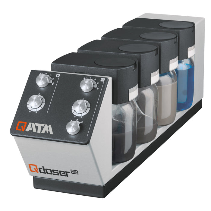 Qdoser dosing system for the Qpol 250 manual grinder/polishers