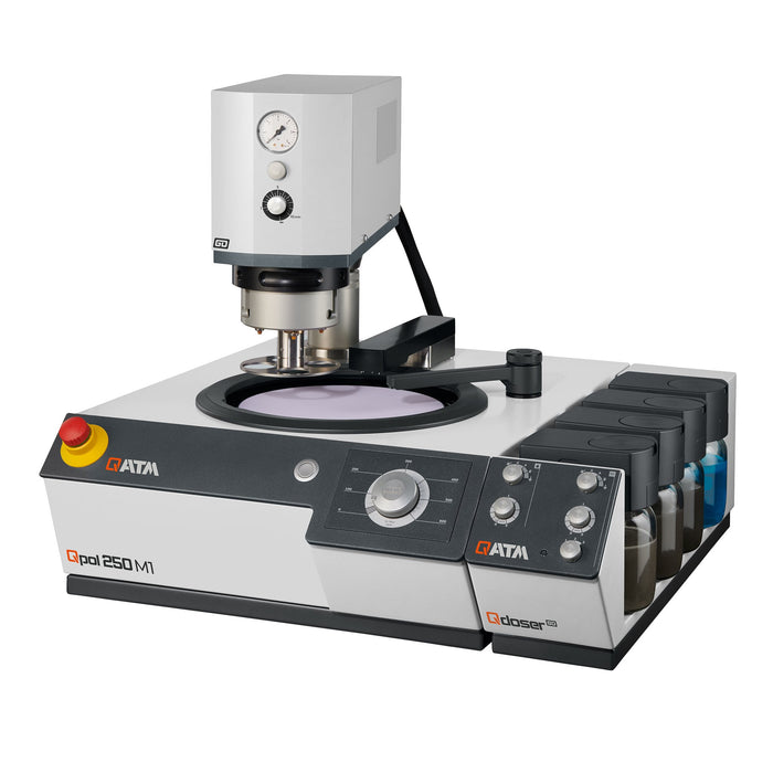 Qpol 250 M1 Grinder/Polisher with optional Go Head and Qdoser
