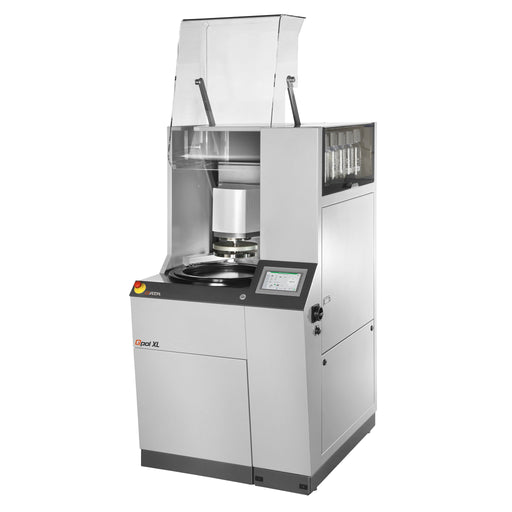 Qpol XL Automatic Grinder/Polisher with raised glass hood